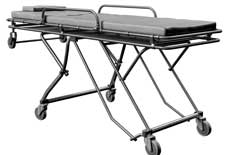 Gray medical stretcher without patient